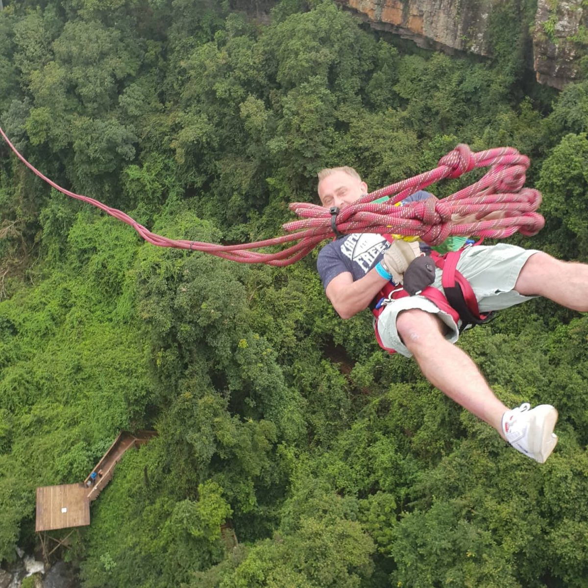 Bungee jumping at White River Manor South Africa