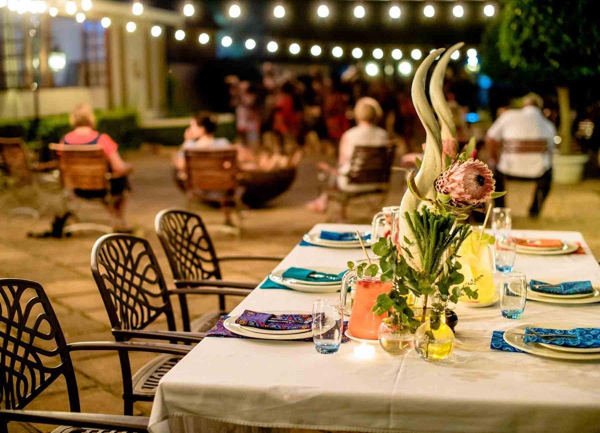 dinner at White river manor